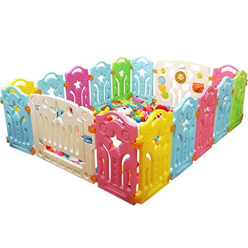 1yess Soins de bébé Tapis de Jeu Playpen - Centre d'activités for Enfants Lit Secure Jeu, intérieur et extérieur 16 Panneau Taille 59,06 x 72,83 en