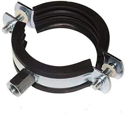 5 Stück Schraubrohrschellen Rohrschelle Stahl verzinkt (74-80 mm / 2 1/2