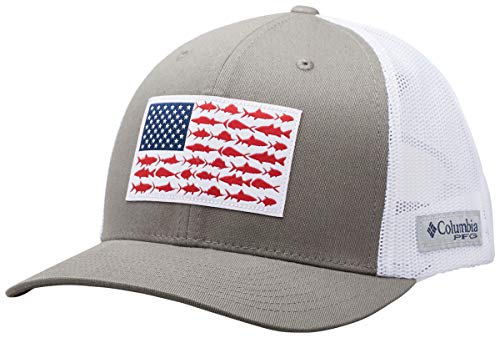 Columbia Men's PFG Fish Flag Snapback Ball Cap, Breathable, Adjustable