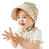 WLYJXB Niños pequeños Baby Bonnets Infant Girls Fusilizados Viajar Sombrero Recién Nacido Algodón Primavera/Sombreros de Verano Sombrero de Cubo de Niño Gorros (Color : Khaki 2, Size : 6m 4Y)