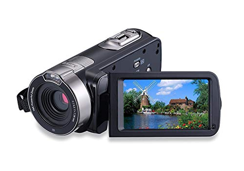 "KINGEAR HDV-301 24MP HD 1080P 2.7"" LCD Touch Screen Digital Video Camcorder with 16x Digital Zoom 270°Rotation (Black)"