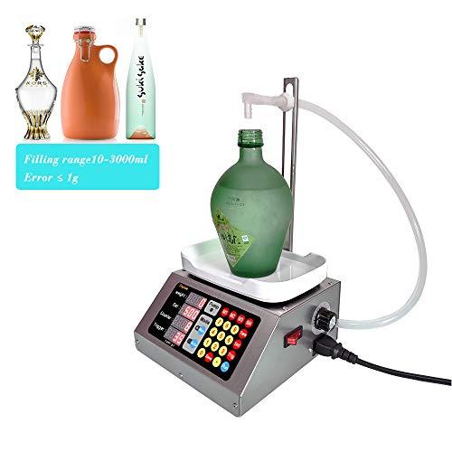 Riempitrice di liquidi quantitativa automatica digitale 10-3000ml per riempitrice di imbottigliatrice cosmetica CSY-1810