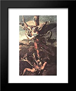 St. Michael Overwhelming The Demon 15x18 Framed Art Print by Raphael