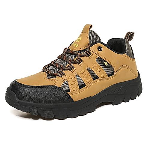 [yalasuo] トレッキングシューズ メンズ 軽量 通気 登山靴 ハイキングシューズ レディース 防水 防滑 アウトドアシューズ ハイキング ウォーキング 遠足 軽登山 履きやすい 歩きやすい 疲れにくい ブラウン 24cm