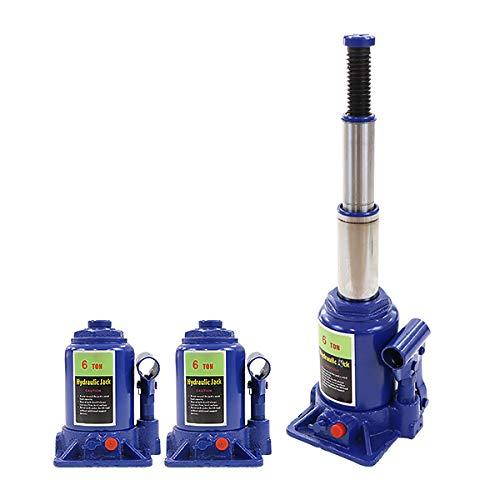 ボトルジャッキ 油圧式 定格荷重約6t 約6.0t 約6000kg 2台セット 2個 油圧ジャッキ 二段階 三段階 多段階 だるまジャッキ ダルマジャッキ ジャッキ 手動 安全弁付き ジャッキアップ ハイアップ タイヤ交換 工具 整備 修理 メンテナンス