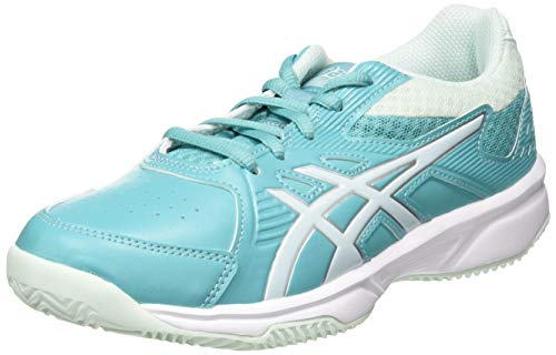ASICS Court Slide Clay GS, Scarpa da Tennis Unisex-Bimbi 0-24, Techno Cyan/Bio Mint, 37 EU