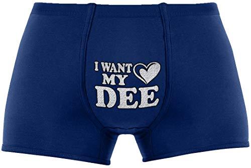 |I Want My Dee | Dark Option - Random Color Choice for Boxers (Black, Gray, Blue).