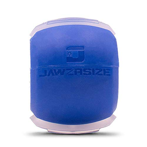 Jawzrsize Jaw, Face, and Neck Exerciser - Define Your Jawline, Slim and Tone Your Face, Look Younger and Healthier - Helps Reduce Stress and Cravings - Facial Exerciser (Level 1 - Beginner) (Small, Blue)