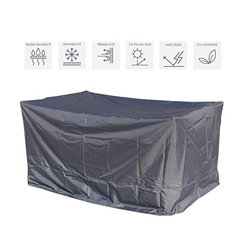 NINGWXQ Cube Tuinmeubelen Covers Waterproof Dust-proof beschermingszeil Outdoor Sofa Covers, gemakkelijk schoon te maken, gemakkelijk op te vouwen, Silver, op maat