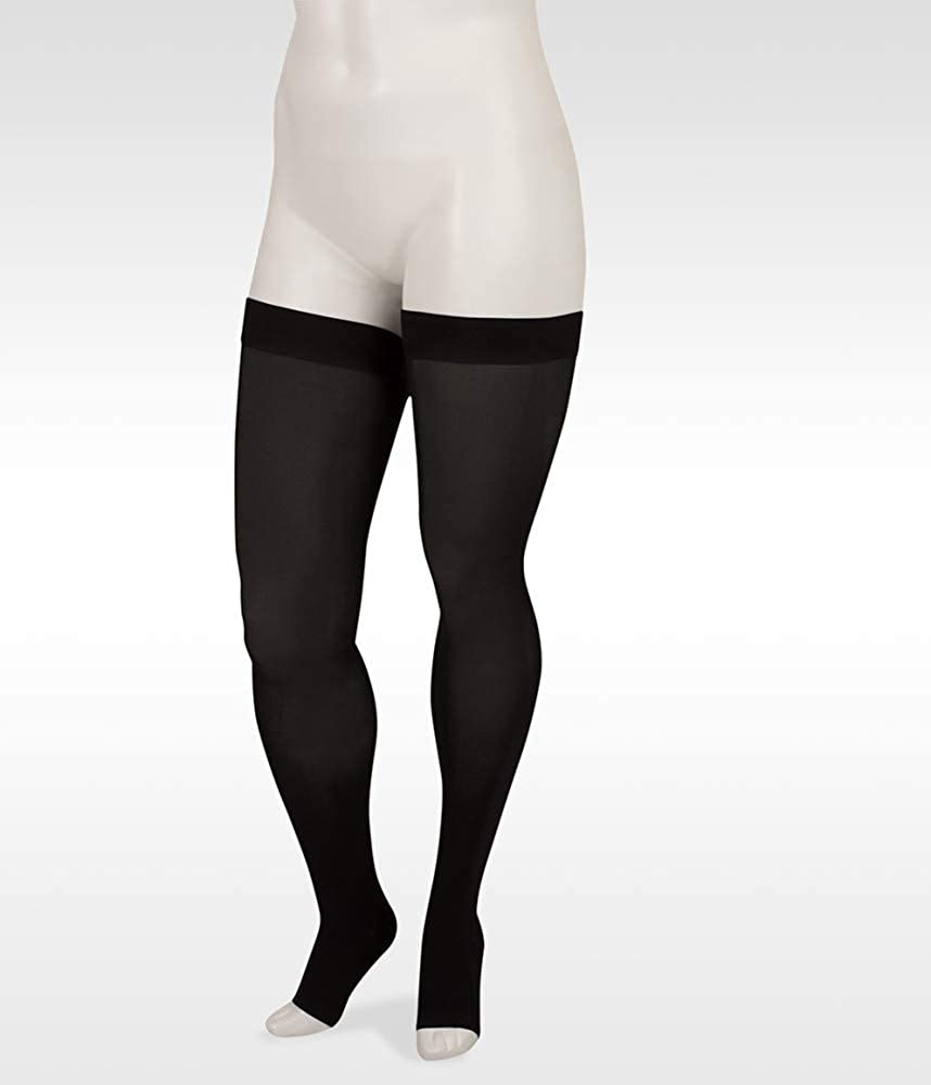 Juzo Basic Seattle Mall 4411ag 20-30mmhg Thigh-High Open Ranking TOP1 Toe Compression Stoc