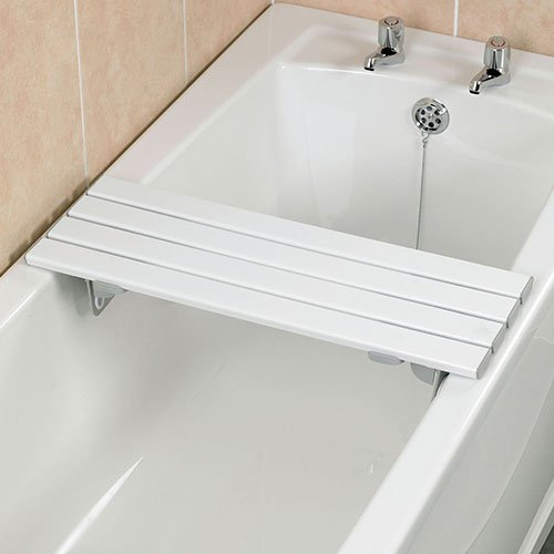 Homecraft Savanah Slatted Bath Board, Strong, Comfortable, & Sturdy Plastic Bath Board, Four Slat Board with Quick Draining Design, 711mm Length and 232mm Wide, (Eligible for VAT relief in the UK)