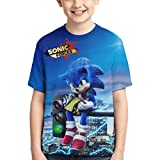 Narpult Teen Sonic The Hedgehog 3D Design Soft Short Sleeve T-Shirt 10-M