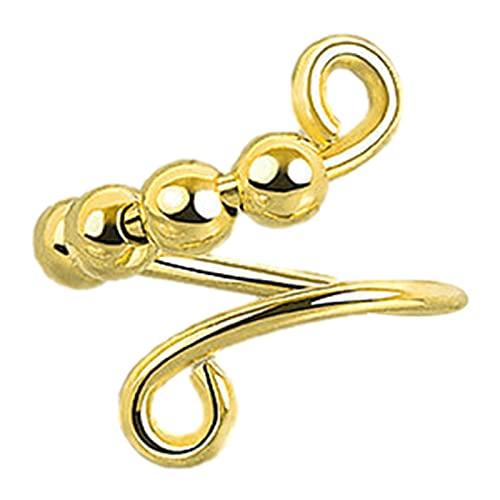 Edcqaz Ringe Für Mädchen Frauen Kreis Spiralfreie Rotation Anti-Stress Für Anti-Stress Und Entlasten Sie Angst