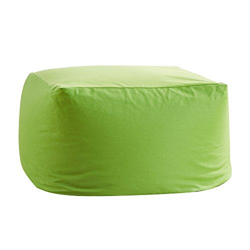 ビーズクッション 人をダメにするソファ 洗えるカバー クッション ソファ 極小ビーズ使用 Mサイズ もちもち 疲労を軽減 キューブチェア 昼寝 グリーン(VK Living)