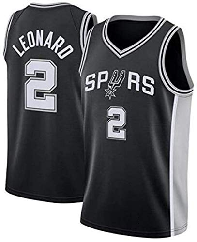 ATI-HSKJ Kawhi Leonard # 2 Jerseys, NBA San Antonio Spurs Ropa Baloncesto Respirable Fresco Tela Alero del Chaleco Sin Mangas sobre El Tema,M(170~175cm/65~75kg)