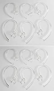 12 Clear ear hook replacements for Motorola Hk100, HK200, Samsung Hm1000, 1100, 1200, 1700, Lg-hbm 230, 235, 255, 260, plantronics M100, 155, M165
