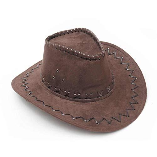 Guirca Fiestas GUI13070 Chapeau de Cowboy en Cuir Marron