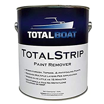TotalBoat TotalStrip Fast-Acting Heavy Duty Gel Paint and Varnish Remover | No Methylene Chloride or NMP  1 Gallon