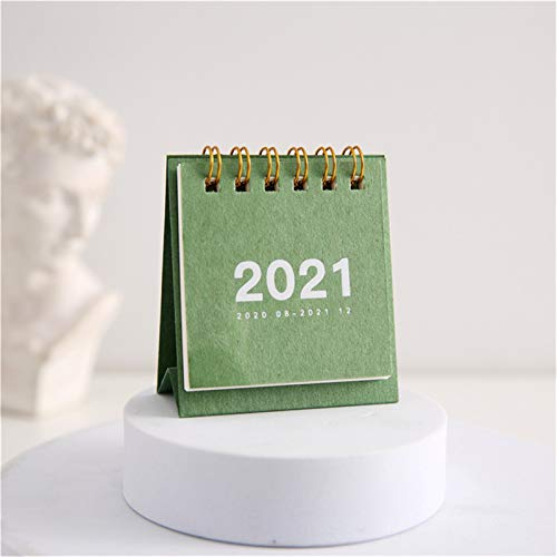 jieGorge 2021 Calendar Desk Calendar Desktop Timetable Convenient And Compact Schedule, Office & Stationery for Easter Day (Green)