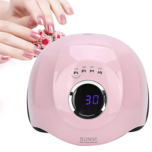 Lámpara de uñas LED UV inteligente, herramienta de manicura secadora de uñas de curado rápido de 180 W para salón y hogar, máquina de curado de uñas de gel(EU)
