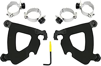 Memphis Shades Road Warrior Tigger Lock Mounting kit Black for Harley Davidson Dyna 2006 and Later
