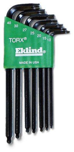 Wright Tool 9E10007 Ball Torx Set In Holder, 7-Piece