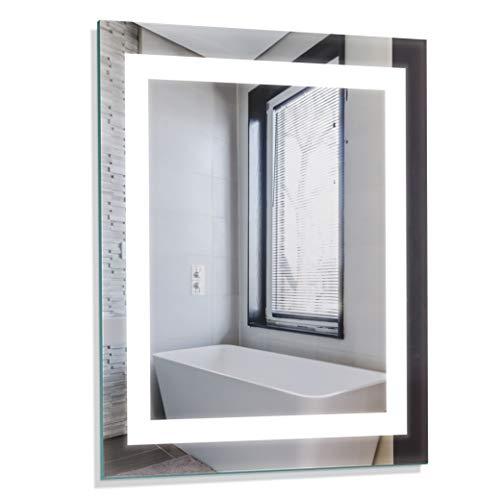 "Homewerks 100150 White 24""x30"" LED Bathroom Mirror, Anti Fog Wall Mounted Horizontal -"