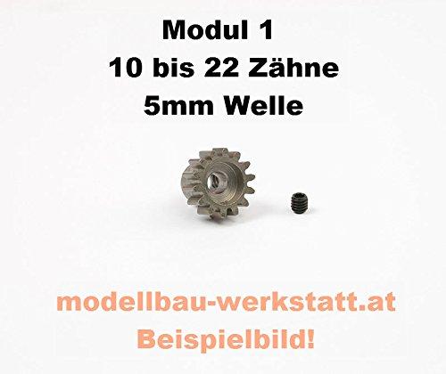 Modellbau-Werkstatt Motorritzel Stahl 1:8 18 Zähne Modul 1 Bohrung 5,0mm Welle Robitronic Ritzel M1 18Z