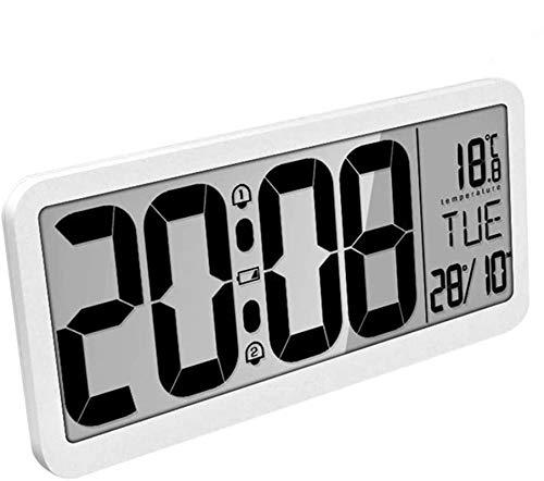 MQUPIN Reloj de pared digital grande con batería de 14 pulgadas extra...