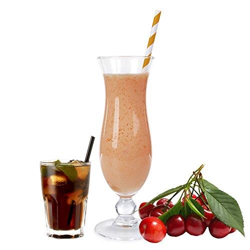 Cola Kirsch Geschmack Eiweißpulver Milch Proteinpulver Whey Protein Eiweiß L-Carnitin angereichert Eiweißkonzentrat für Proteinshakes Eiweißshakes Aspartamfrei (1 kg)