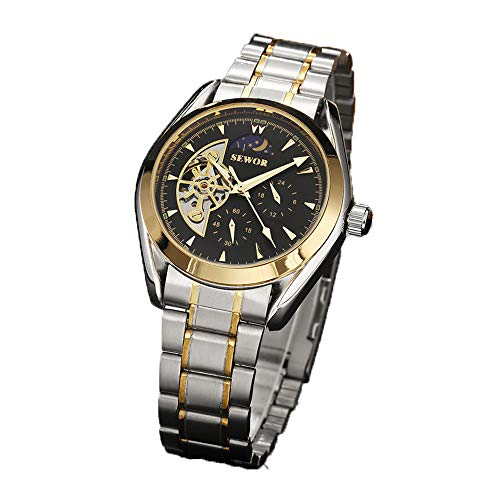Sewor Tourbillon - Reloj de pulsera mecánico automático para hombre