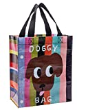 Blue Q Handy Tote ~ Doggy Bag. Reusable lunch bag, little tote, gift bag, sturdy and easy to clean, made from 95% recycled material, 10'h x 8.5'w x 4.5'd