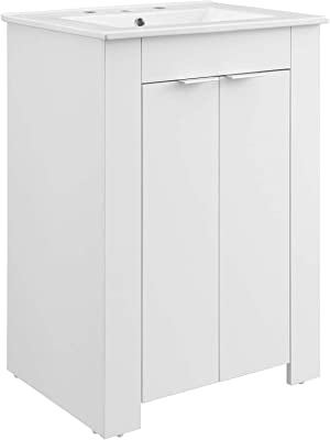"Modway Maybelle 24"" Bathroom Vanity White"