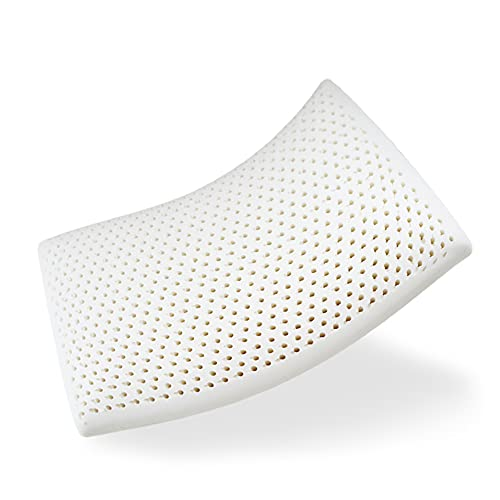 Grenslumb Latex Foam Pillow, Soft and Supportive Latex Pillows for Neck Pain, Ergonomic Orthopedic Pillow with Washable Pillowcase and Antidust Net , Neck Support Pillow for Side Sleepers
