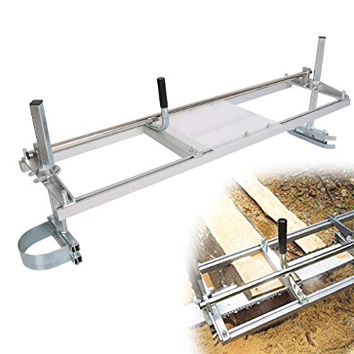 """ECOTRIC Chainsaw Mill Planking Milling from 18"""" to 48"""" Guide Bar Brush Wood Lumber Cutter"""