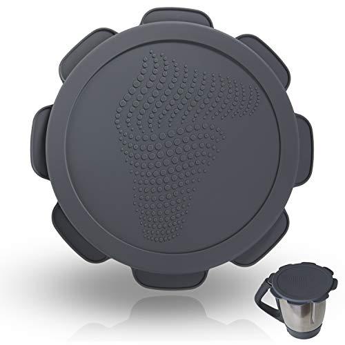 mixcover Silikondeckel wasser-, luft- & geruchsdicht für Thermomix TM5 TM6 Friend | BPA frei | Lebensmittelecht – Thermomix Zubehör - Grau