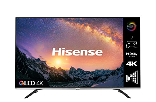 HISENSE 50E76GQTUK QLED Gaming Series 50-inch 4K UHD Dolby Vision HDR Smart TV with YouTube, Netflix, Freeview Play and Alexa Built-in, HDMI 2.1, Bluetooth and WiFi, TUV Certificated (2021 NEW)
