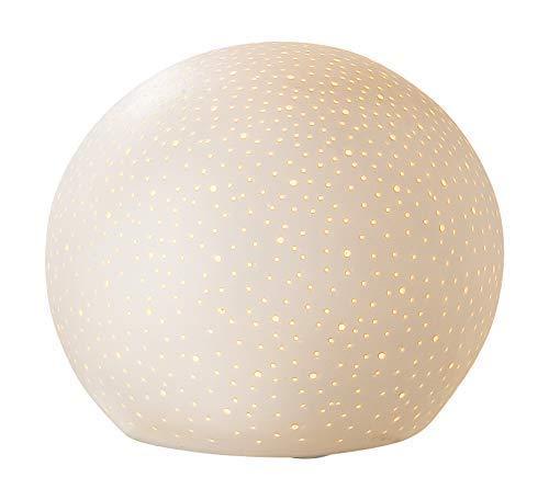 GILDE Lampe Prickel Sternenhimmel - aus Porzellan mit Lochmuster im Prickellook D 18 cm