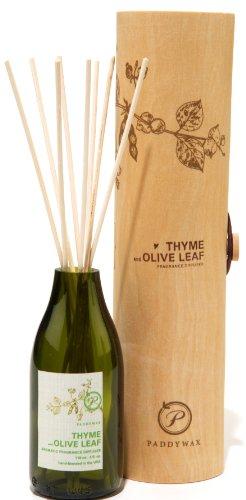 Paddywax Eco Green Diffuseur de Parfum, Thym et Feuille d'olive
