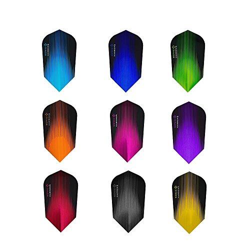 Harrows Sonic Dart-Flights, verschiedene Farben, schmal, 10 Sets
