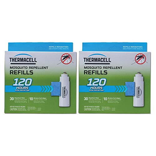 Thermacell 120-Hour Mosquito Repellent w/ 30 Mats & 10 Cartridges (2 Pack)