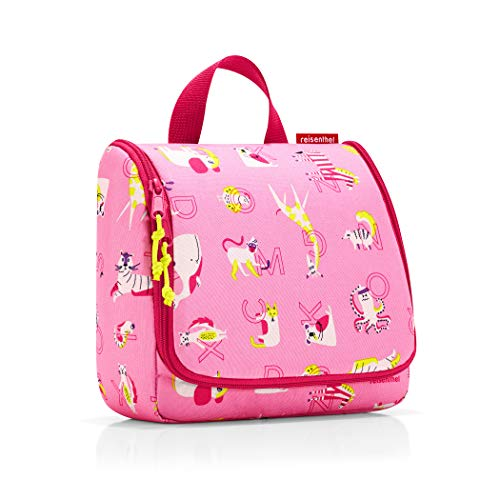 reisenthel toiletbag kids 23 x 20 x 10 cm/ 23 x 55 x 8,5 cm expanded / 3 l / abc friends pink
