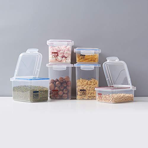 Boîte de conservation pour réfrigérateur, boîte de conservation en coquillage, réservoir de stockage avec boucle, boîte de rangement pour la cuisine, boîtes hermétiques pour céréales et céréales