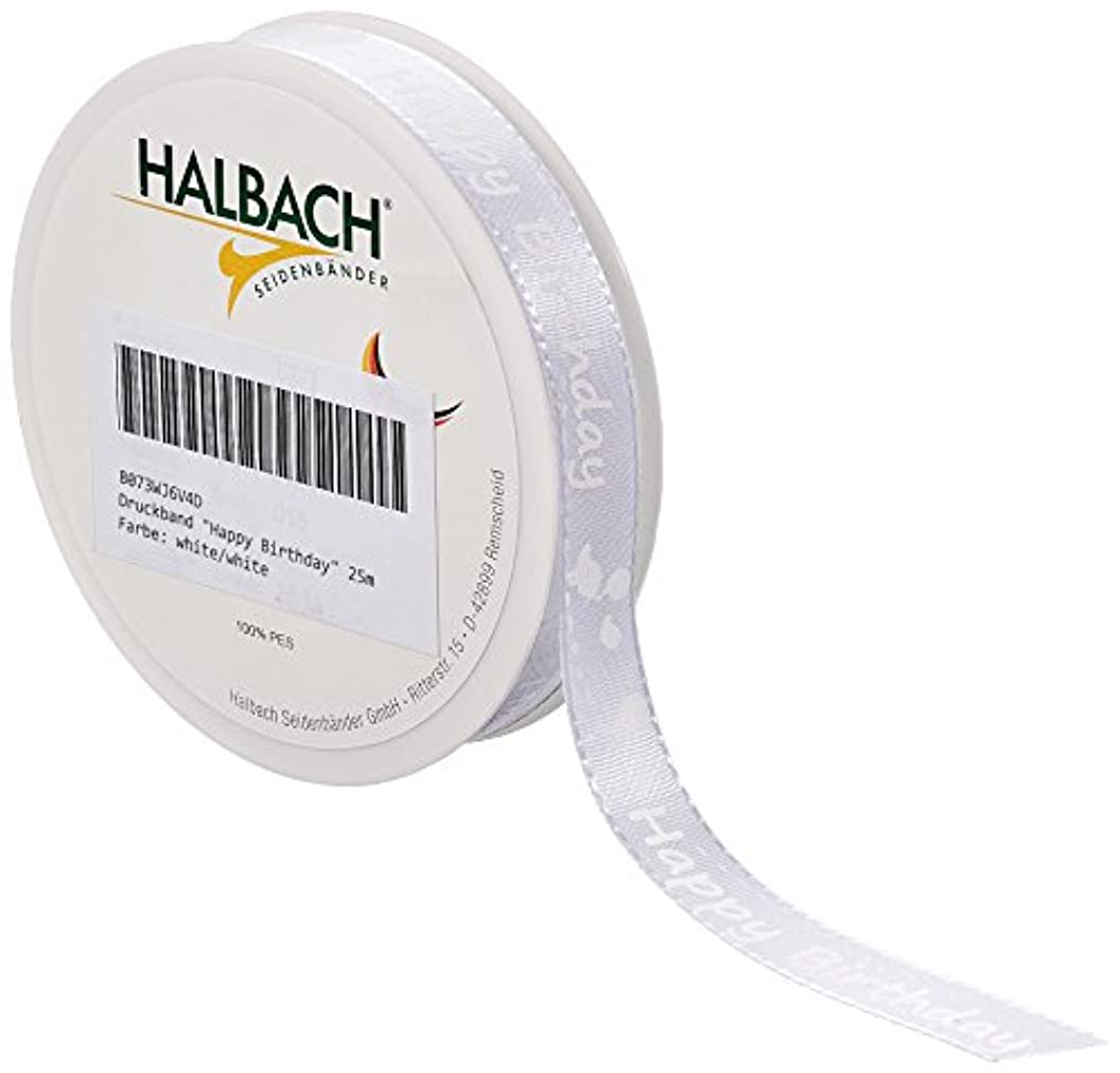 Halbach Silky Sashes 572/015?11?25?Tape Patches Printed Decor Semi Taffeta, White/White, 2500?x 1.5?x 1?cm qejsdlxcjhy91