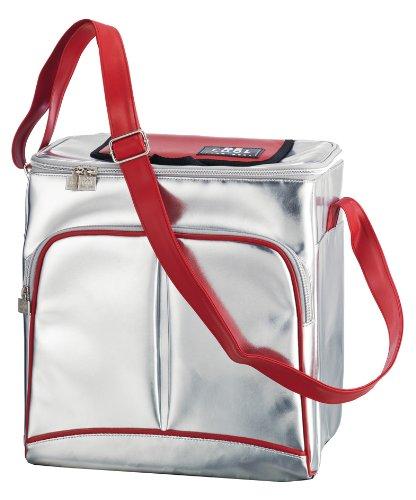ALFI Be Cool Borsa Termica Travelbox 19 L, Colore: Argento/Rosso