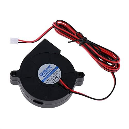 JRUIAN Accesorios de impresora 12 V 40 mm ventilador Turbo ventilador 4020 40x40x20mm refrigeración PLA para impresora 3D