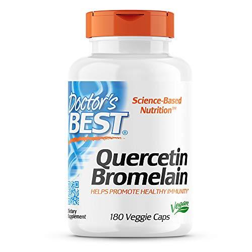 Doctor's Best | Quercetin Bromelain | 180 vegane Kapseln | glutenfrei | diätisch