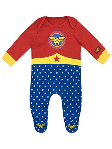 Wonder Woman - Pijama Entera para Niñas Bebés 0 a 3 Meses