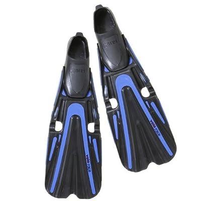 Mares Volo Race Full Foot Scuba Diving Fins, Black/Blue, Size 9.5-10.5