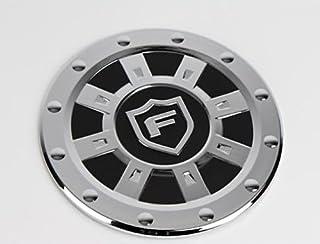SAFE K155 Chrome Fuel Gas Cap Cover Emblem 1-pc Set for 2008 2009 2010 2011 2012 Kia Forte : All New Cerato
